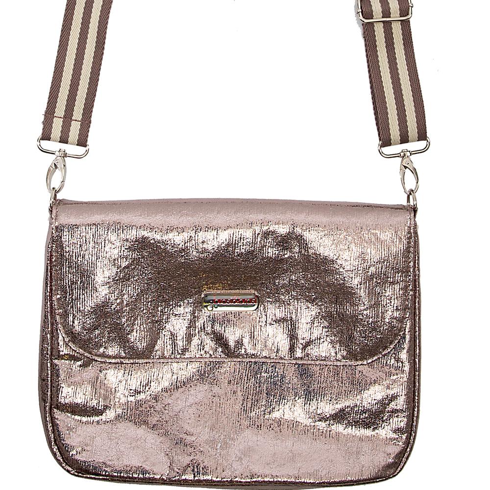 flap&bag stripe glitter M anthra