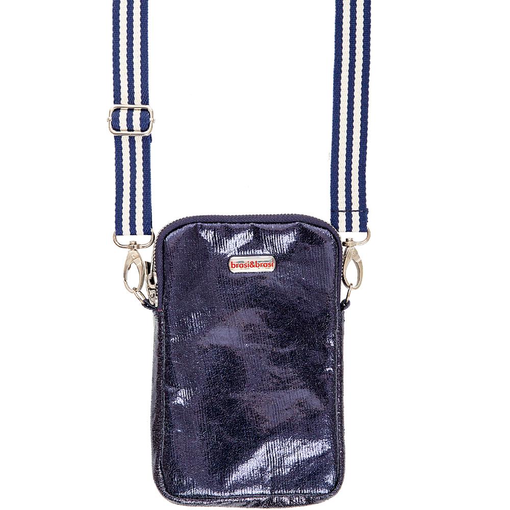 handy&zip stripe glitter  dunkelblau