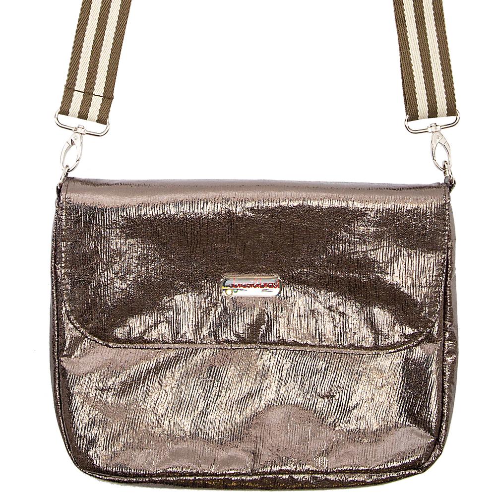 flap&bag stripe glitter M olive